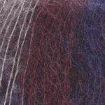 Svart-grå-blå melerad