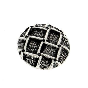 Deknofa Button Cubic Str Silver