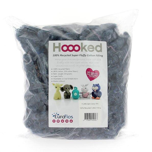 Hoooked 100% Recycled ekologiska bomullsfyllning produktbild Storm - Super-volym-fyllning