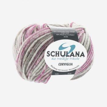 Schulana Corviglia Print Produktbild - Lättstickat lammullsgarn med akryl