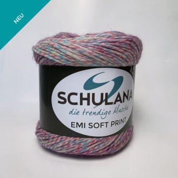Schulana Emi Soft Print produktbild - Cake garn i blandningen lammull och bomull